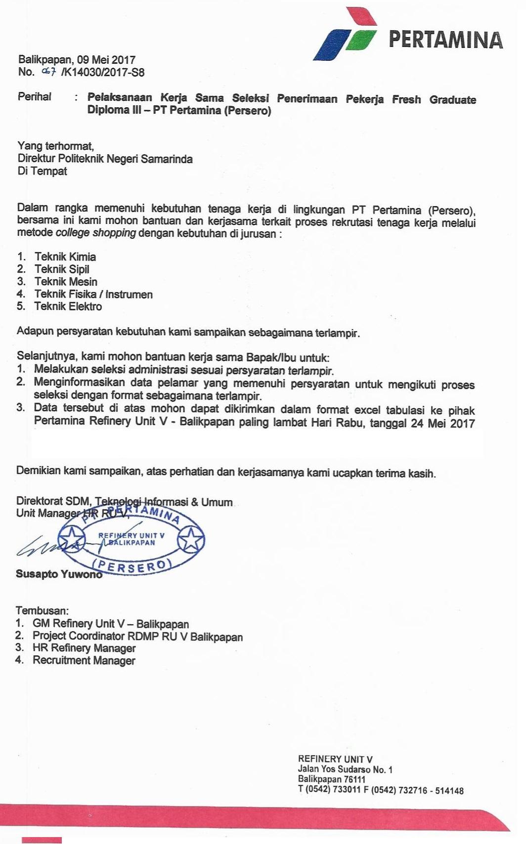 Lowongan Pekerjaan Polnes Politeknik Negeri Samarinda Official Web